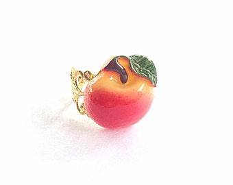 Apple ring, fruit ring, food ring