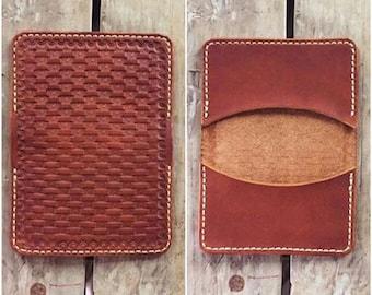 Basket Weave Wallet - Two Pocket - Free Shipping