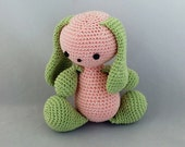 Amigurumi Little Bunny, Pink/Green