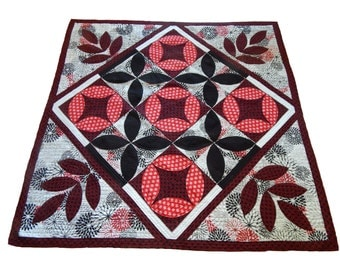 Hand Made black and red quilt