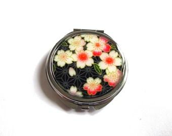 Cherry Blossom Mirror, Sakura Mirror, Sakura Accessories, Flower Mirror, Floral Mirror, White Flowers, Picture Mirror