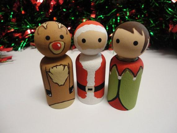 wooden peg christmas decorations