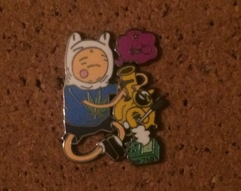 Adventure time hat pin
