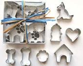 Seven Piece Mini German Shepherd Cookie Cutter Set