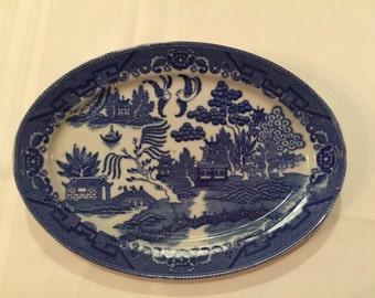 Blue Willow Willowware Platter