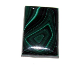 loose gemstone rectangle shaped green malachite cabochon 92.5 ct (MA47)