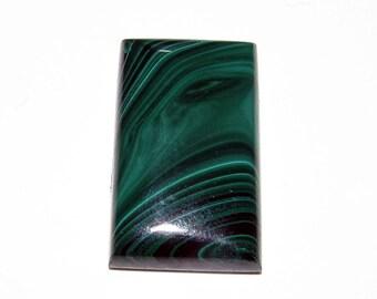 loose gemstone rectangle shaped green malachite cabochon 67.5 ct (MA113)
