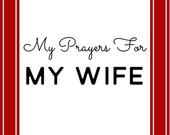Prayer Scripture Cards for your Wife RED: Instant Digital Download