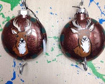 Deer Head Hunter Hunting Camo Ornament