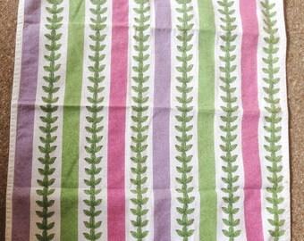 Vintage cotton tea towel for Portmeirion