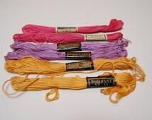 Vintage Embroidery Floss Thread 6 Skeins Boilfast  J & P Coats