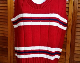 Striped Sweater Vest Womens Size Small