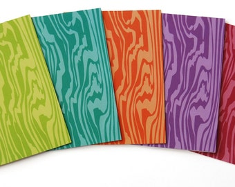 Jilly Jack Designs Faux Bois Pattern Series Note Card Set