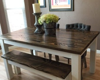 Genial Farmhouse Table | Solid Wood Farmhouse Dining Table | Farmhouse Kitchen  Table | Built To Order
