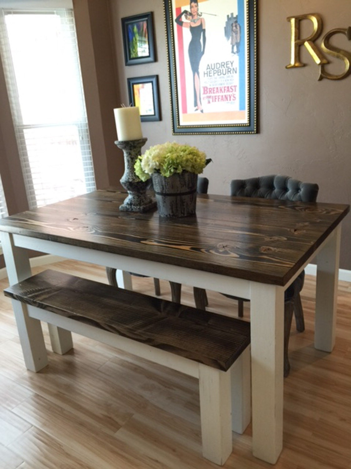 farmhouse table solid wood farmhouse dining table. Black Bedroom Furniture Sets. Home Design Ideas
