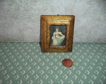 1:12 scale Dollhouse Miniature Vintage Picture of Little Girl