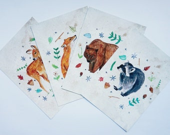 Forest Critters Postcard Set (Back in stock!)