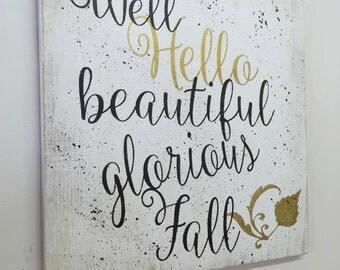 Fall Wall Decor fall wall decor | etsy
