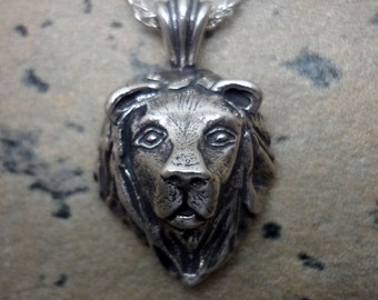 Lion Head Pendant - Handmade in the Pacific Northwest