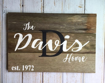 Custom Name Sign, Last Name Sign, Hand painted