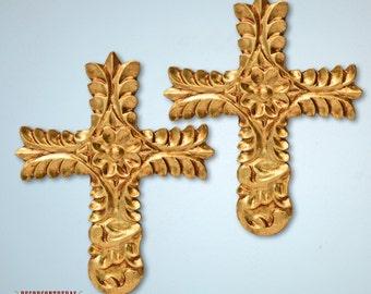 "wooden craft crossesset 2, decorative wall crosses""Radiant Cross III""- wooden crosses- home wall decor- interior decor accessoriesPeru"
