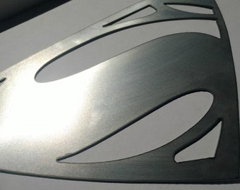 Man of Steel Inspired Metal Sign