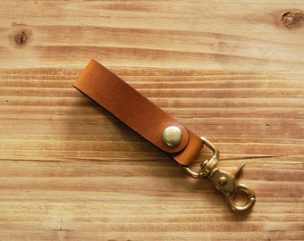 Leather Key Fob | Men's Gift | Horween Leather Key Fob | Key Chain | Key Fob | Key Tether | Gifts for Him | Father's Day Gift