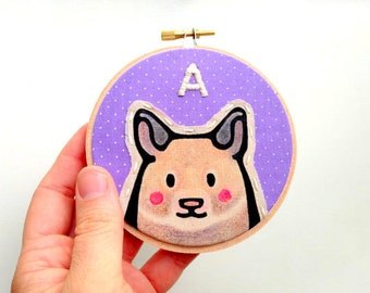 Hamster Portrait - MINI Hamster Hoop - Custom Hamster Portraits - Hamster Portrait - Embroidery Hoop Art - Pet Lovers - Gift for Pet Lovers