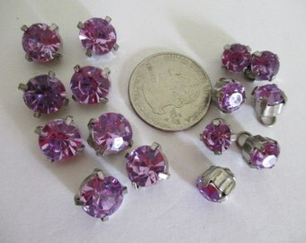 Lot of 15 Lavender Beads Sewons Upcycle Recycle Destash Craft