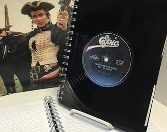 Adam And The Ants & Spandau Ballet - recycled vinyl record notebook