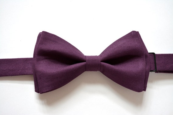 mens bow tie plum color bow tie for bow tie for by