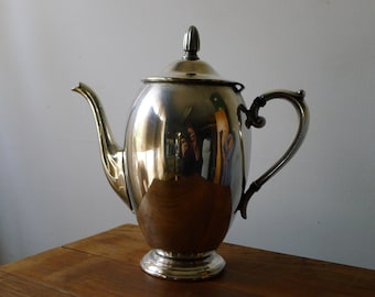 Silver plate Bristol coffee urn with hinged lid