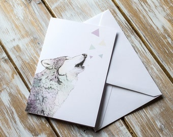 Howling Wolf | Greetings Card