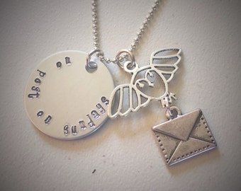 Harry Potter Inspired Hand-stamped Charm Necklace