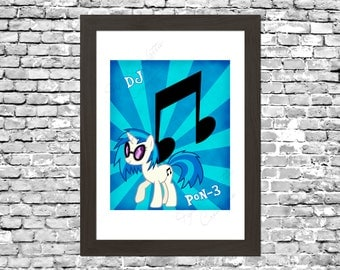My Little Pony DJ Pon-3 (Vinyl Scratch) Wall Art Printable Instant Download