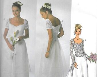 Butterick BRIDAL Pattern 4070 DRESS & Detachable Train  Misses Sizes 6 8 10/Misses Sizes 18 20 22