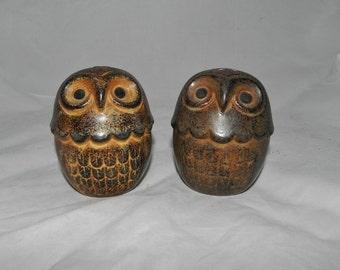 Vintage Ceramic Owl Salt & Pepper Shakers