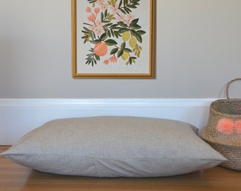New! Natural Linen-Look Dog Bed Cover, Pet Bed Duvet Cover, Choose Your Size XS S M L XL XXL