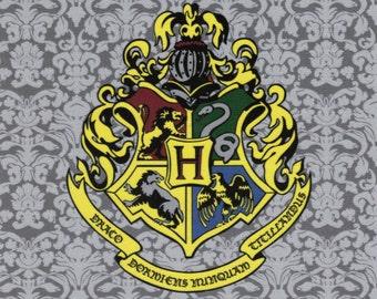 Hogwarts Crest: Harry Potter fabric print