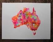 """AUSTRALIA no#4 ORIGINAL ARTWORK 15"""" x 20"""" by Niki Pilkington"""