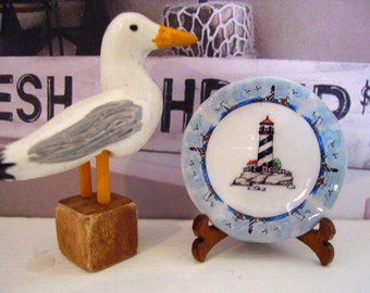 Nautical Style Miniature Plate for Dollhouse 1:12 scale
