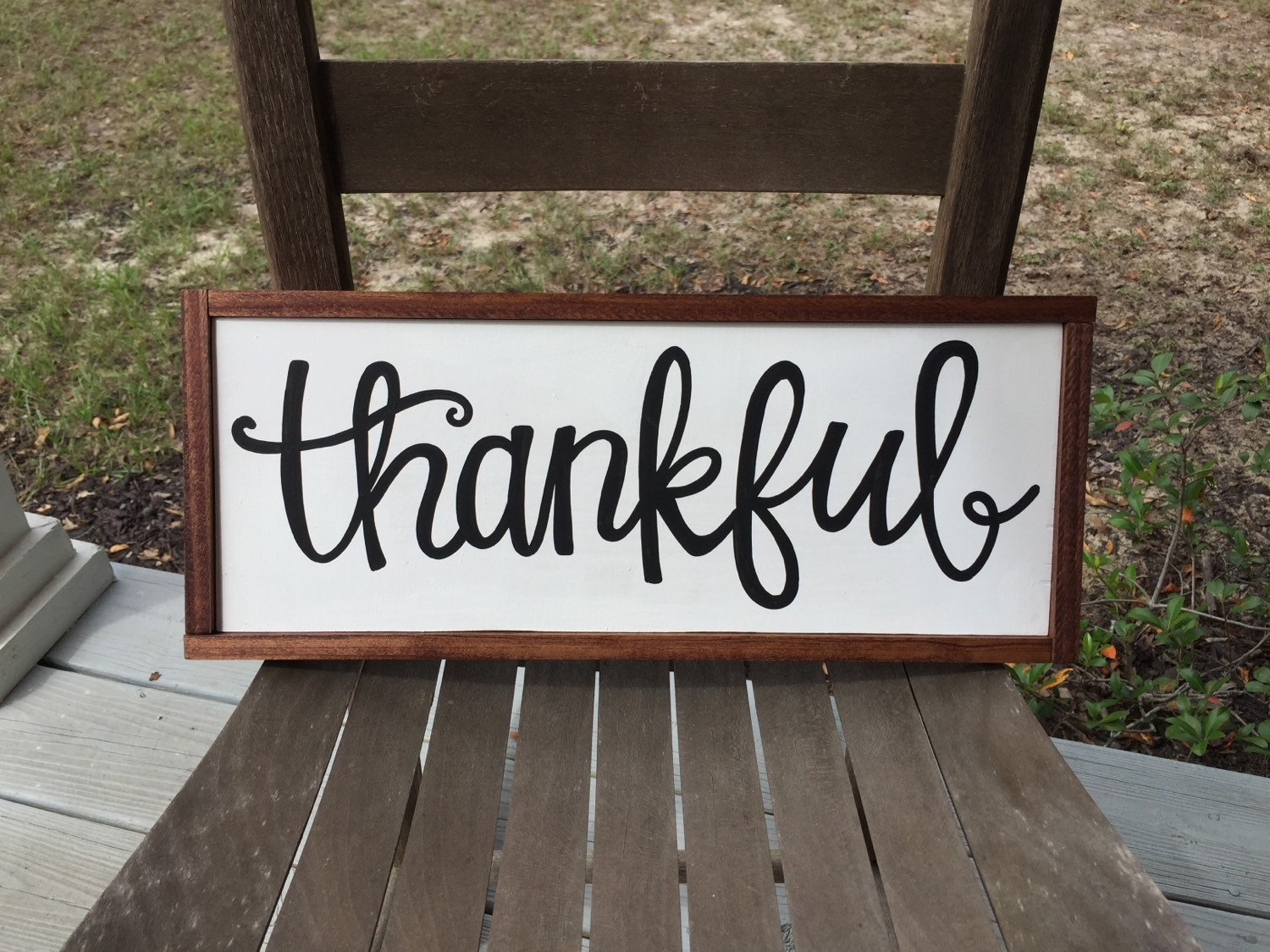 Thankful Sign Thanksgiving Sign Fall Sign by jgcreationsbyjg