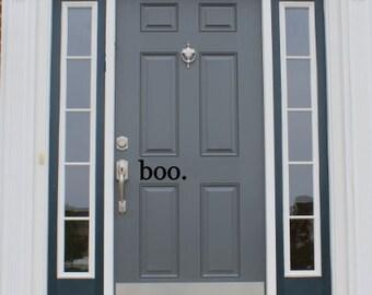 Boo - halloween front door vinyl decal