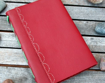 Red Leather Journal / Notebook. A Perfect Gift