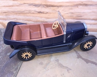 1927 Volvo Jakob Promo Dealer Plastic Toy Car 1/20 Stahlberg Model Vintage Antique Black convertible collectible Finland Christmas gift