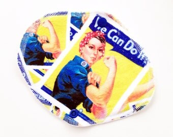 Minky Bamboo Wrap Style Pantyliner/ Rosy the Riveter