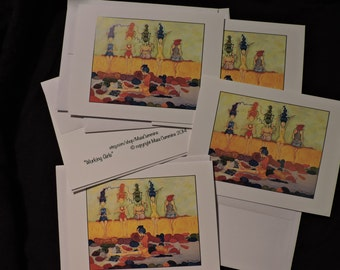 Gift For Knitters, Mother's Day Present, Everyday, All Occasion, Just Because, Gift, Blank, Card Set, Whimsical, Quirky,