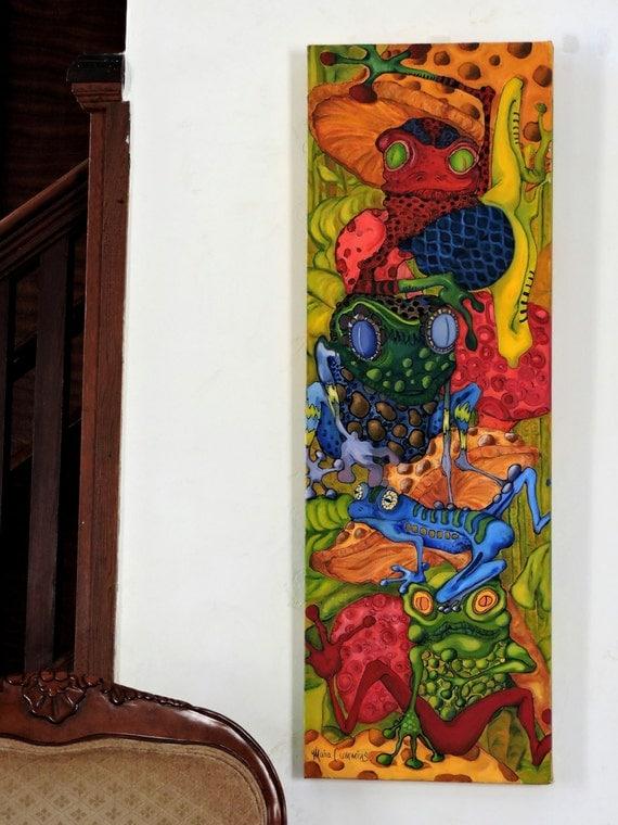 long narrow art bar art vertical original oilfrogs. Black Bedroom Furniture Sets. Home Design Ideas