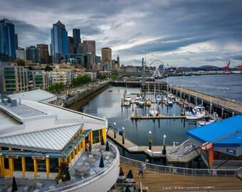 Seattle pier etsy for Seattle fishing pier
