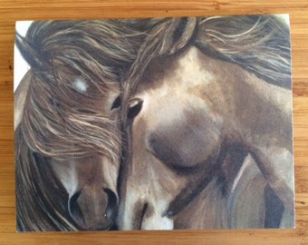 Card for horse lovers - Togetherness